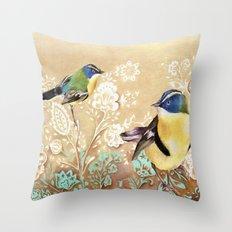 Siete Colores Throw Pillow