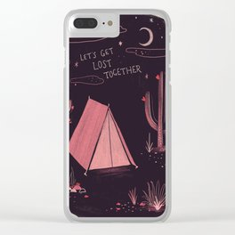 Let's get lost together Clear iPhone Case