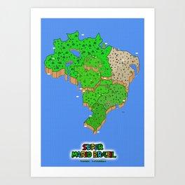 Super Mario Brazil Art Print