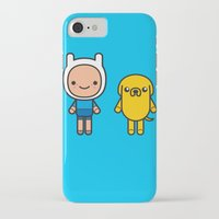 finn and jake iPhone & iPod Cases featuring #48 Jake and Finn by Brownjames Prints