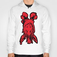 red hood Hoodies featuring Miss Red riding hood  by Sammycrafts
