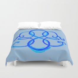 Path Of Life - Blue Duvet Cover