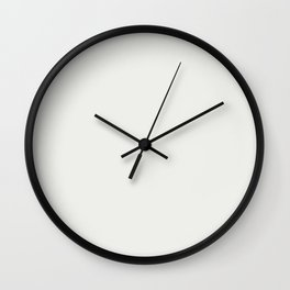 Off White Solid Color - Extra White SW 7006 Accent To Oceanside Dark Aqua Blue SW 6496 Wall Clock