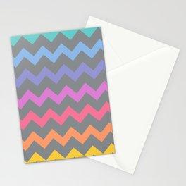Rainbow Chevron Stationery Cards