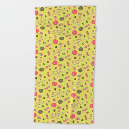 Old Fashioned Boiled Sweets by Chrissy Curtin Beach Towel