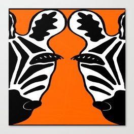 Two Face Zebra Canvas Print