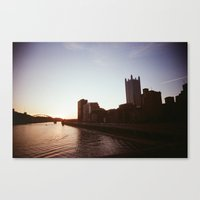 pittsburgh Canvas Prints featuring Pittsburgh by Benny Pinto