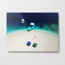 On the beach in Maldives Metal Print