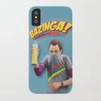 bazinga iPhone & iPod Cases featuring Sheldon  - BAZINGA! by ShannonPosedenti