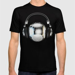 Headphone disco ball T-shirt