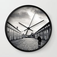 nordic Wall Clocks featuring nordic scene by Mar Fernandez