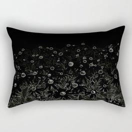 Flower | Flowers | Flowers at Midnight | Black Rectangular Pillow
