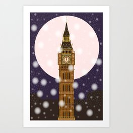 London Christmas Eve Kunstdrucke