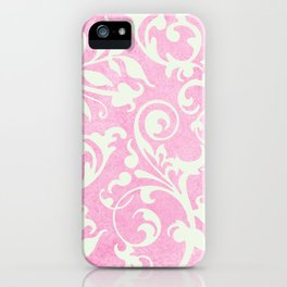 Shabby Chic pink damask iPhone Case