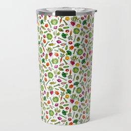 Vegetable Garden - Summer Pattern With Colorful Veggies Travel Mug