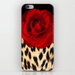 Leopard Rose by Lika Ramati iPhone Skin