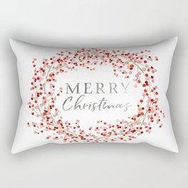 Merry Christmas wreath. Red berry Rectangular Pillow