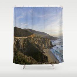 Bixby Bridge at Big Sur Shower Curtain