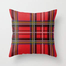 red kilt Throw Pillow