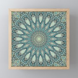 Eye of the Needle Mandala Art Framed Mini Art Print