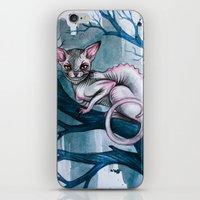 cheshire cat iPhone & iPod Skins featuring Cheshire Cat by Black Fury