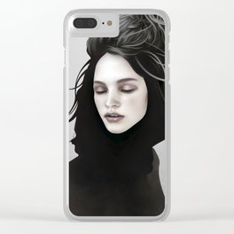 Elsewhere Girl Clear iPhone Case