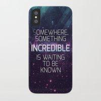 sagan iPhone & iPod Cases featuring Incredible - Carl Sagan Quote by Nicholas Redfunkovich