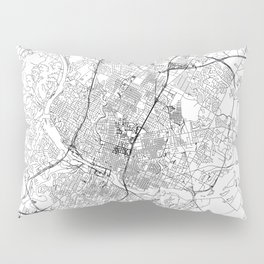 Austin White Map Pillow Sham