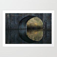 Eye of the bridge Art Print