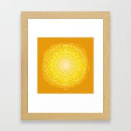 MANIPURA Boho mandala Framed Art Print