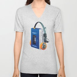 Sony Walkman TPS-L2 with MDR-5A Headphone Polygon Art Unisex V-Neck