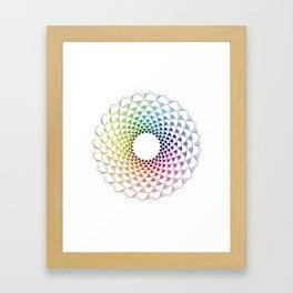COLOURFUL COOS Framed Art Print