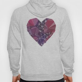 Heart triangular  low poly, mosaic pattern background, Vector polygonal illustration graphic, Creati Hoody