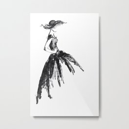 Retro fashion sketch Metal Print