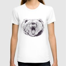 Bear Womens Fitted Tee White LARGE