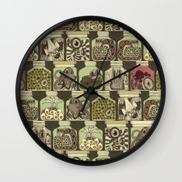 weird pickles vintage Wall Clock