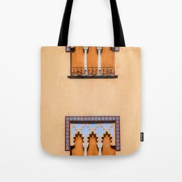 Dueling Windows of the Medieval Village of Cordoba Spain Tote Bag