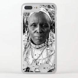 Masai Grandma Clear iPhone Case