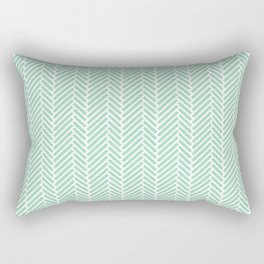 Herringbone Mint Inverse Rectangular Pillow
