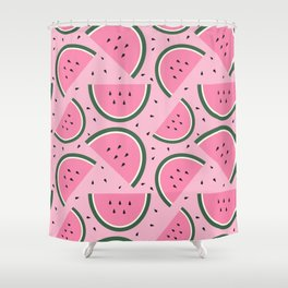Watermelons Galore! Shower Curtain
