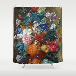 "Jan van Huysum ""Flowers in a Terracotta Vase"" Shower Curtain"