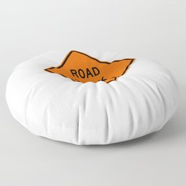Road Work Ahead Meme Floor Pillow