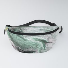 Ocean Wave Green Gray Nature Water Fanny Pack