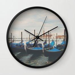 Venice gondola photograph Wall Clock