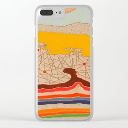 obstructions Clear iPhone Case