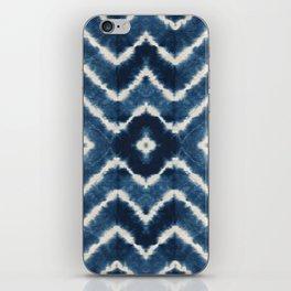 Shibori, tie dye, chevron print iPhone Skin