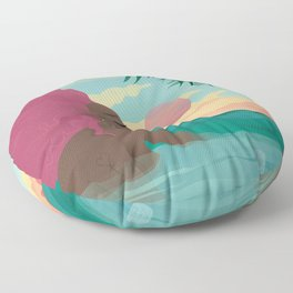 Bubblegum Beach Floor Pillow