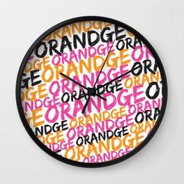 Orandge Wall Clock