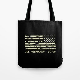 USS Normandy Tote Bag