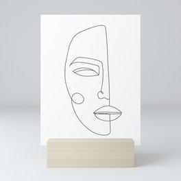 One Line Face Printable Art, Woman Faces Print Mini Art Print
